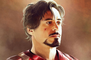Tony Stark Paint Art Wallpaper