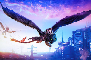 Toothless And Hiccup Flight 4k Wallpaper