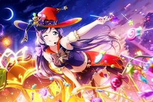 Toujou Nozomi Under The Starry Sky Wallpaper