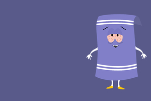 Towelie South Park Minimalism 8k Wallpaper