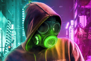 Toxic Mask Hoodie Guy 4k Wallpaper