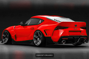 Toyota Supra Render Rear 4k Wallpaper