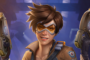 Tracer From Overwatch 4k Wallpaper