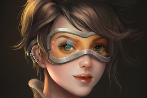 Tracer From Overwatch Artwork Wallpaper