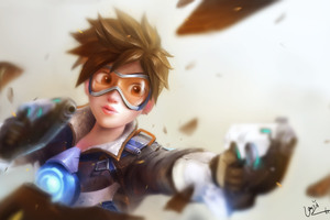 Tracer Overwatch Artwork 4k Wallpaper