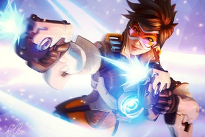 Tracer Overwatch Artworks Wallpaper