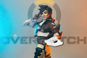 Tracer Overwatch Cosplay 2020 Wallpaper