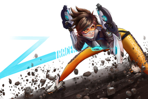 Tracer Overwatch Digital Art 4k Wallpaper