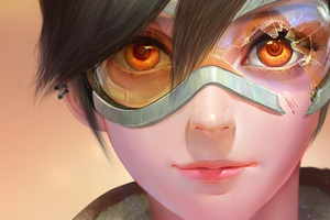 Tracer Overwatch Fan Art Wallpaper