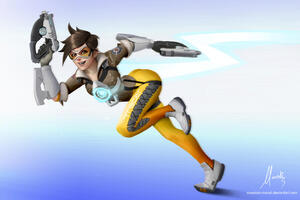 Tracer Overwatch New Artwork Wallpaper