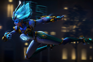 Tracer Overwatch Supersaiyanblue Digital Art 4k