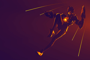 Tracer Ovewatch Art 4k
