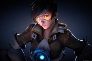 Tracer Ovewatch Art Wallpaper