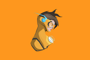 Tracer Ovewatch Minimalism 4k Wallpaper