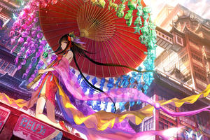 Traditional Dress Girl Anime