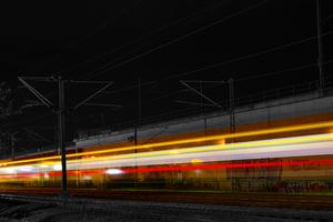 Train Lights Station 4k Wallpaper