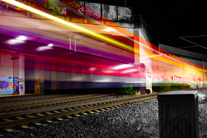 Train Long Exposure Lights Photography Wallpaper