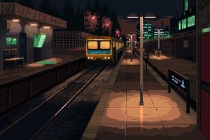 Train Station 8 Bit
