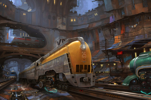 Trains Cgi City Wallpaper