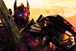 Transformers Optimus Prime Artwork 4k