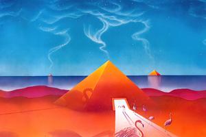 Transmigration Of Souls In Blue Flamingo 5k Wallpaper