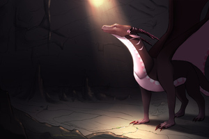 Trapeed Dragon In Cave Accidental Light 4k