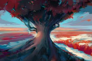 Tree Digital Art 4k