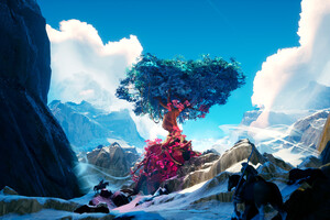 Tree On The Mountain 4k