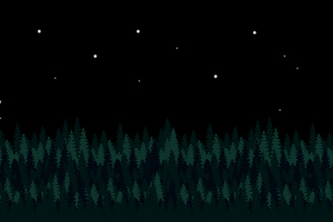 Trees 8 Bit 4k Wallpaper