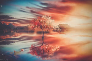 Trees Fantasy Art Wallpaper