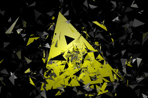 Triangle Broken Glass Abstract 5k Wallpaper
