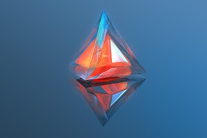 Triangle Geometry 3d Digital Art Wallpaper