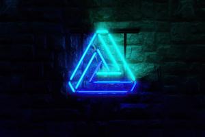 Triangle Neon Glowing 4k