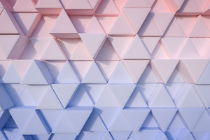 Triangle Pastel 3d 4k Wallpaper