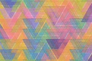 Triangle Pattern Mosaic Shape Square Abstract