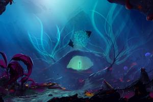 Trident Underwater 4k Wallpaper