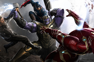 Trinity Vs Thanos Wallpaper