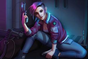 Trinquette Cyberpunk Girl 5k