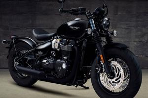 Triumph Bonneville Bobber Black 2017