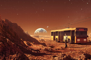 Triumph Bus On Mars