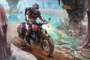 Triumph Motorcyle Rider