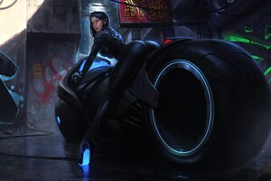 Tron Bike Anime Girl