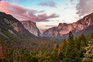 Tunnel View At Dusk Yosemite 5k