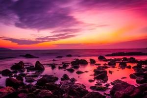 Turkey Sunset Dusk Sky Clouds Rocks Wallpaper