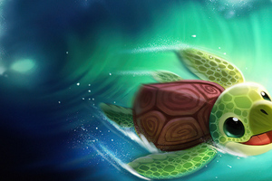 Turtle Surfer 4k Wallpaper
