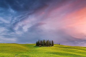 Tuscany Field In Italy Wallpaper