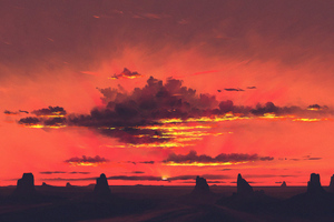 Twilight Clouds Nature 4k Wallpaper