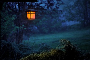 Twilight Lamp Evening Outdoors