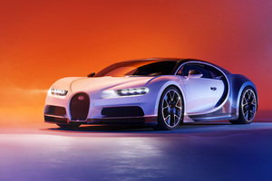 Two Tone Bugatti Chiron 4K