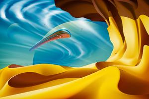 Ufo Desert Wallpaper
